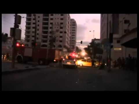 Israel-Gaza Conflict 2014 - Israeli Destroys a Block Tower in Gaza City 08/24/2014   RAW VIDEO