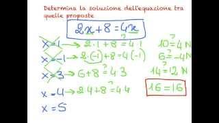 Introduzione alle equazioni