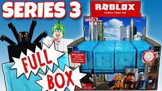 NEW ROBLOX Series 3 FULL BOX Blue Mystery Boxes Opening Toy Review | Trusty Toy Channel