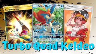 Turbo Quad Keldeo Unified Minds Deck, PTCGO Gameplay