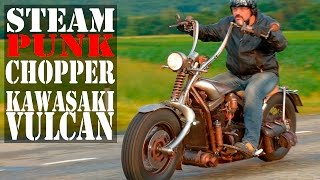 Стимпанк-чоппер Kawasaki Vulcan #МОТОЗОНА №8