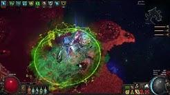 POE 3.7 Frost Wall + splash = tons of damage (full shaper run)