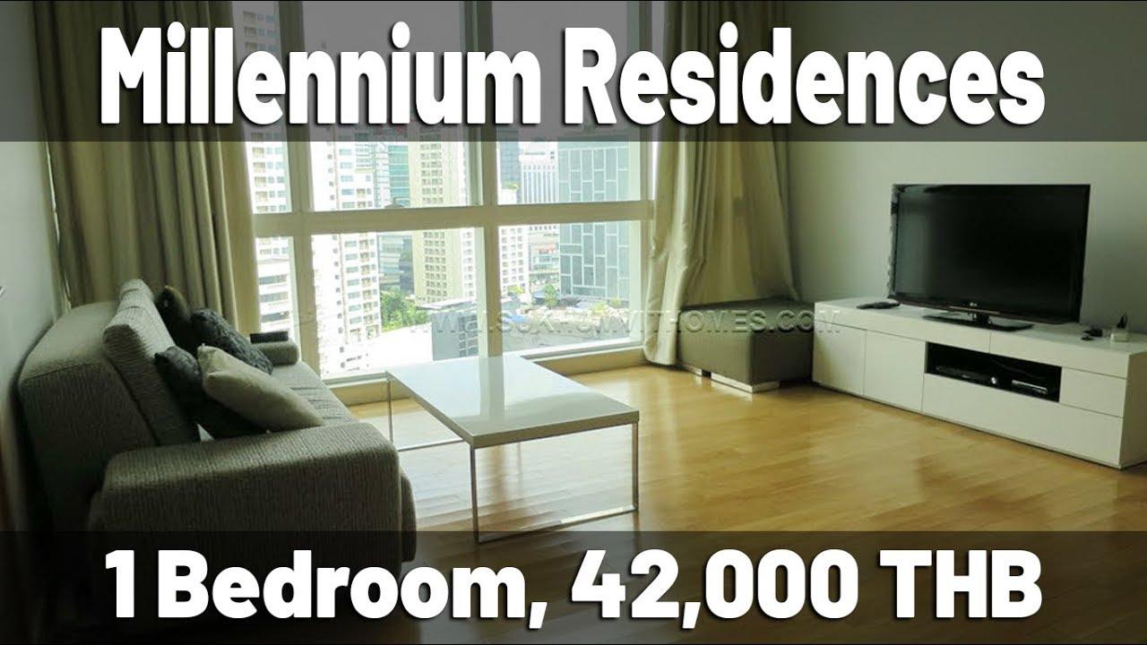 1 Bedroom At Millennuim Residence Sukhumvit Millennium Residence Bangkok 1 Bedroom For Rent Youtube