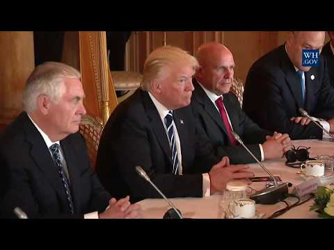 President Trump participates in a bilateral meeting with Prime Minister Charles Michel of Belgium