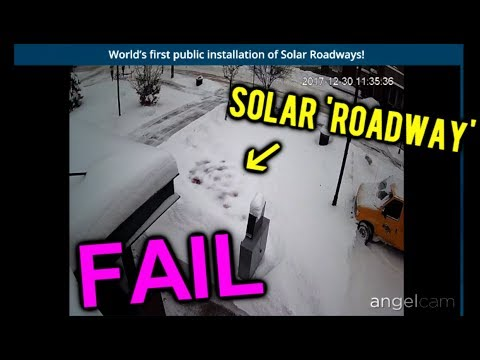 Solar roadways, NEVER shovel snow agai... oh