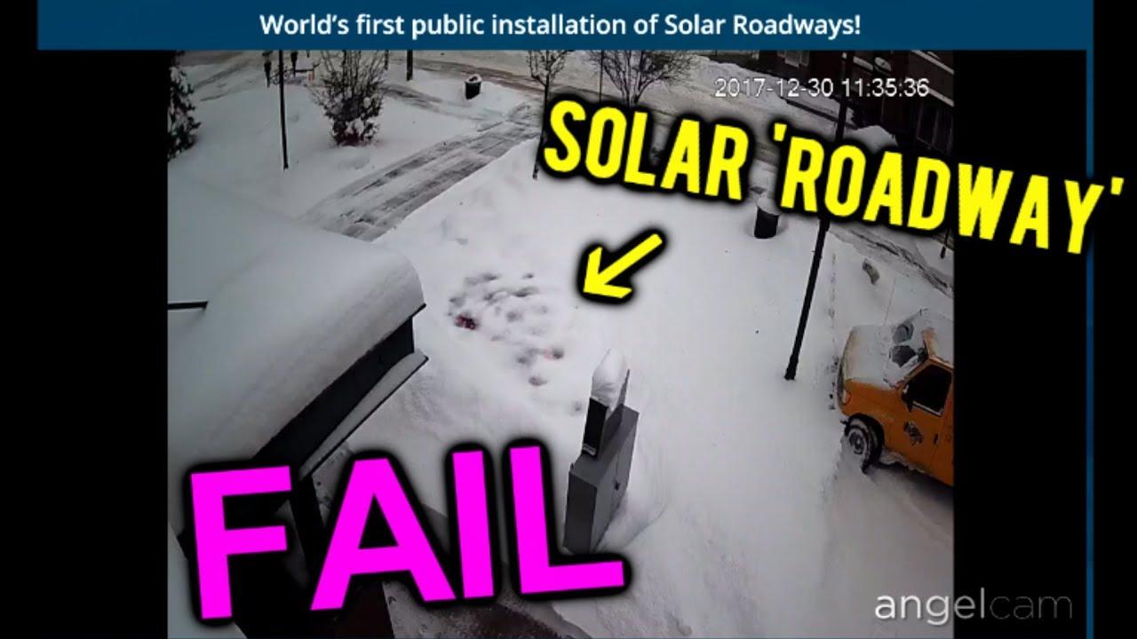 Solar Roadways Never Shovel Snow Agai Oh Doovi