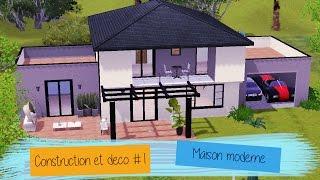 Speed built Sims 3 #1 Maison moderne - Construction et déco