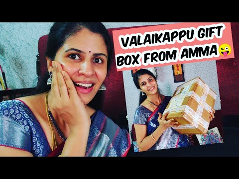 UNBOXING 😜THE MOST AWAITED VALAIKAPPU GIFT BOX 💕💕😜 | Twins vegkitchen vlogs from YouTube · Duration:  15 minutes 13 seconds