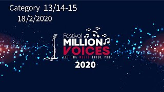 18/2/2020 Part 3  -Age Category 13/14-15- Music competition festival Million Voices - 5