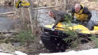 Ladoga-Trophy. How off-road is made. ATV Tinger in action