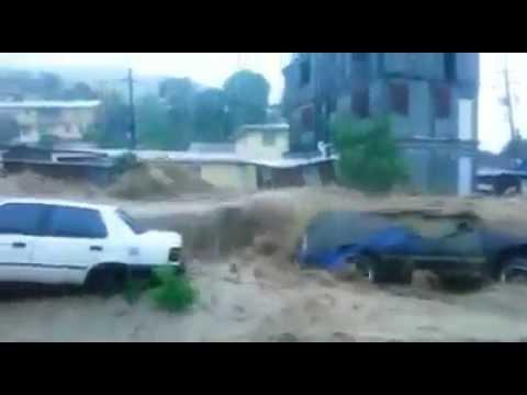 Hurricane Erika Floods Dominica!!  - Home Video