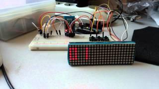 arduino slide clock 8x8 matrix