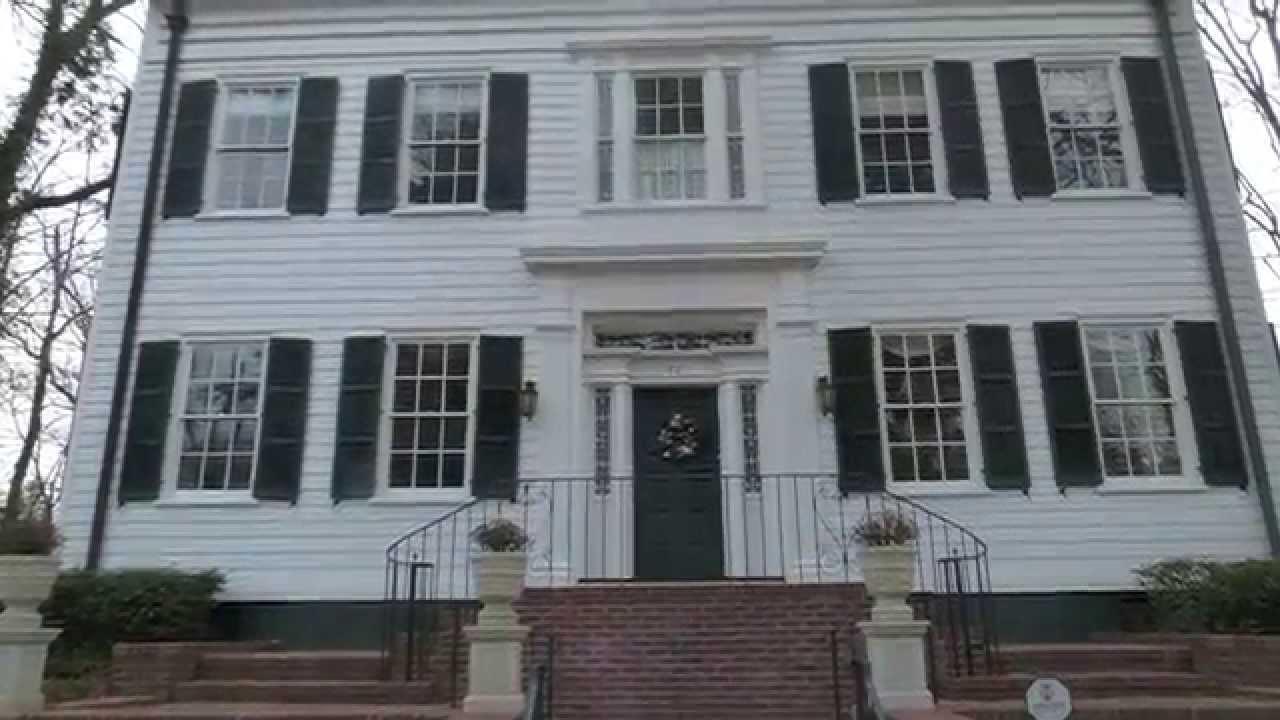 Woodrow wilson 39 s princeton nj homes youtube for The princeton house