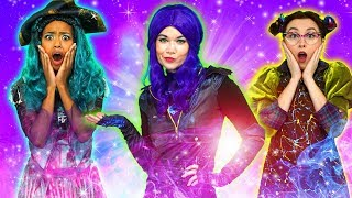 DESCENDANTS 3 MAL AND UMA VS EVIE AND BEN. WILL AUDREY TURN GOOD? Totally TV Parody