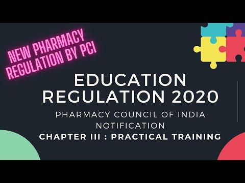Part III D Pharm Education Regulation 2020 pci education regulation Practical training