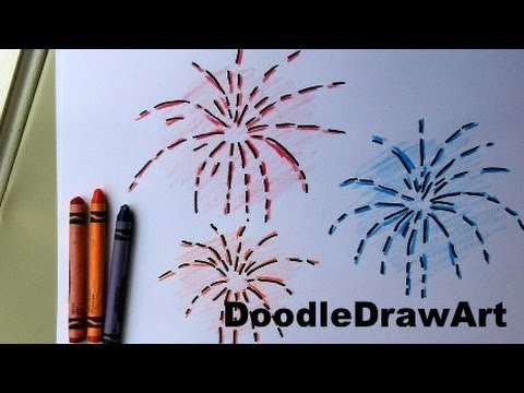 How to draw fireworks easy drawing lesson for kids easy