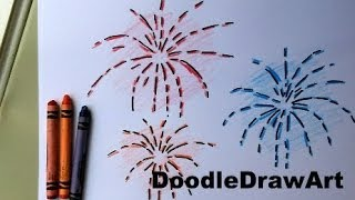How To Draw Fireworks - Easy Drawing Lesson for kids.EASY!
