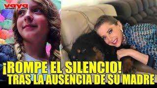 Hija de Edith González rompe el silencio y le envía mensaje a su madre