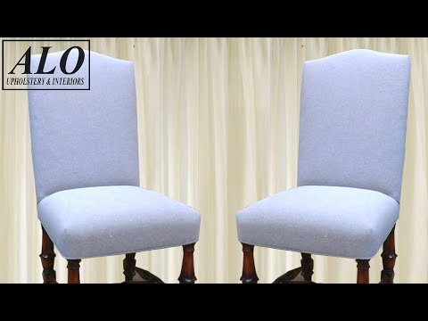 DIY-HOW TO REUPHOLSTER A DINING ROOM CHAIR| DIY - ALO Upholstery