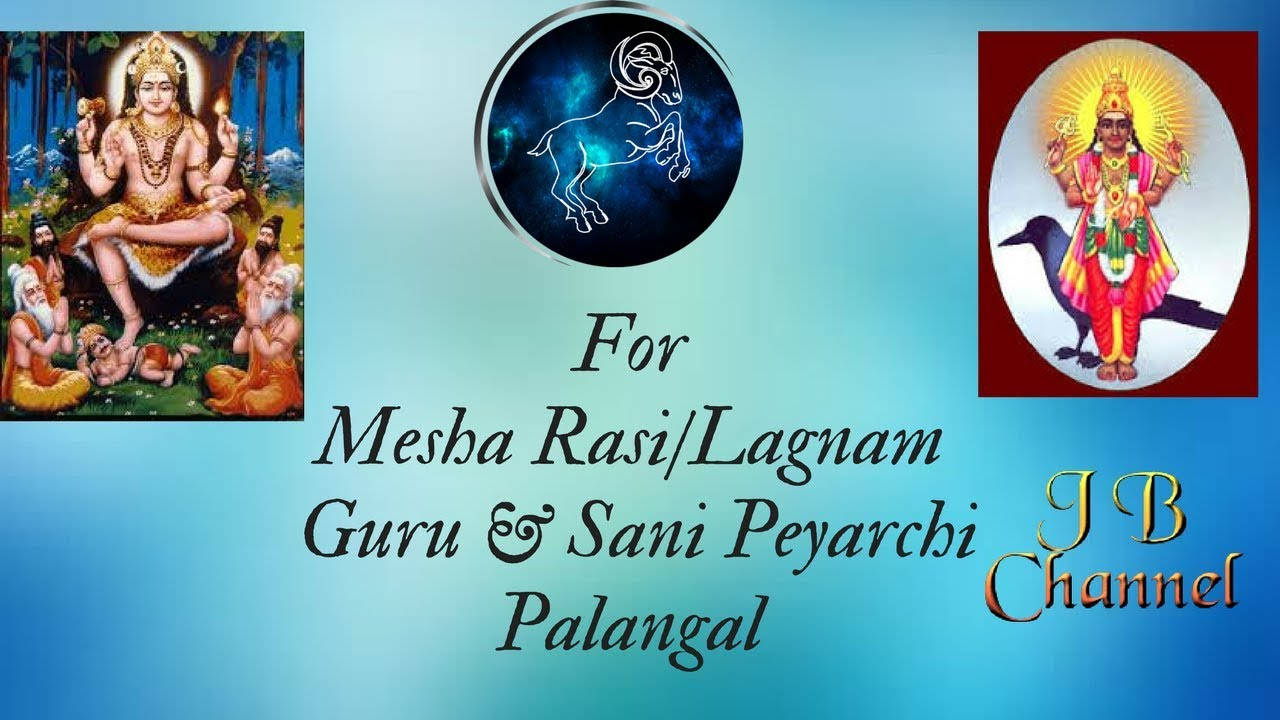 For Mesha Rasi/Lagnam   Guru & Sani peyarchi Palangal 2017 in Tamil by  Jayashree Balan-Learn Astrology