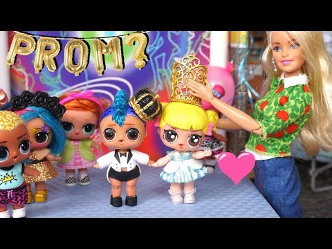 Barbie LOL Family Punk Boi Asks Baby Goldie to the Pre School Prom