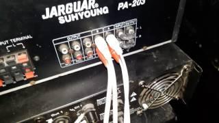 Hướng dẫn kết nối bộ hát karaoke gồm 7 thiết bị. Míc. Lọc. Vang. Loa. Âm ly. Loa. Sub