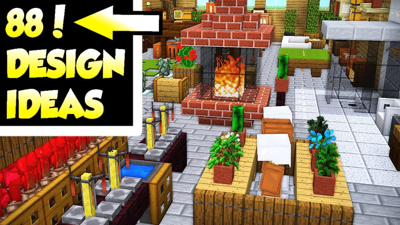 88 Minecraft House Interior Design Ideas for Survival Building