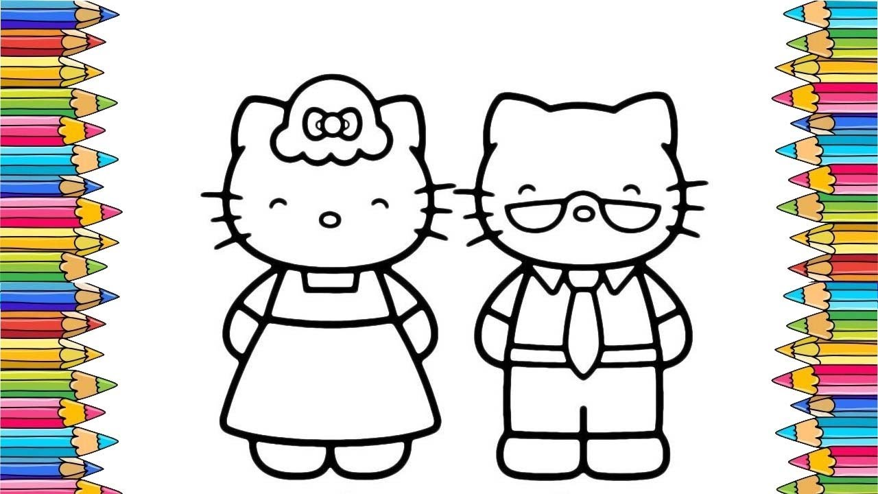 Hello Kitty Coloring Pages Hello Kitty Family Coloring Youtube