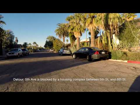 Tucson, Arizona Neighborhoods - COMPLETE Driving Tour of 4th Avenue District