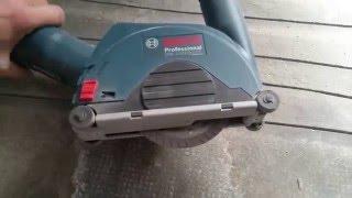 Bosch Dust Guard GDE115/125FCT & Angle Grinder GWS 18VLI