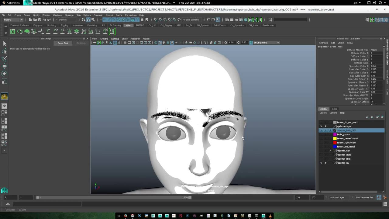 Quick Tutorial With No Narration On How To Make Eyebrow With Xgen In Maya  With Renderman