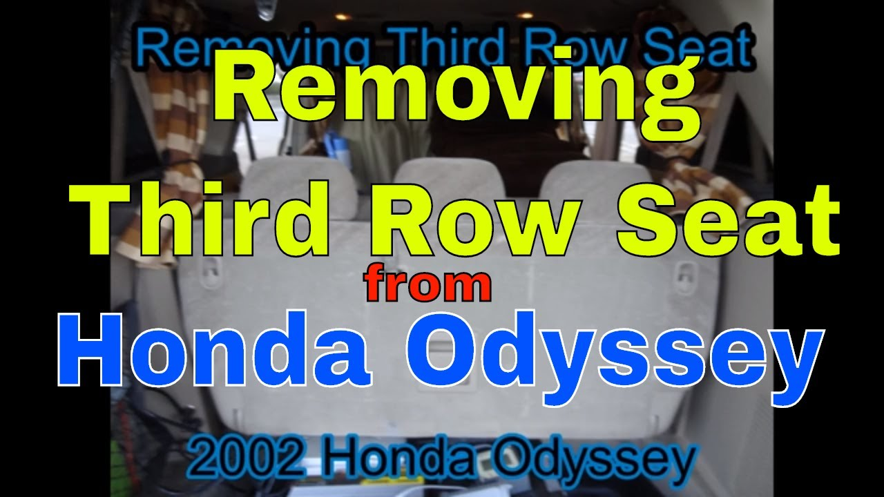 removing back seat removing third row seat second generation 2002 honda odyssey youtube. Black Bedroom Furniture Sets. Home Design Ideas