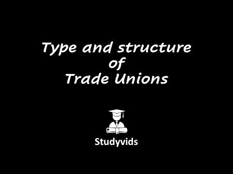 N0711E  Type and Structure of Trade Unions