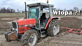☆Próba Bronowania Na Bardzo Mokrym Polu !WTOPA?!Massey Ferguson 3060 w Błocie☆ZKNG S3 #3GoPro Hero5