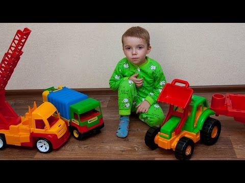 Машинки мультфильм – Машинки для детей. Смотрим машинки. мусоровоз, автовышка.