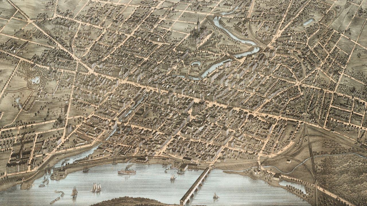 Hartford Connecticut History and Cartograph (1877) - YouTube