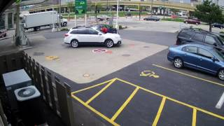 Dramatic moment woman jumps onto hood of SUV to stop carjackers.