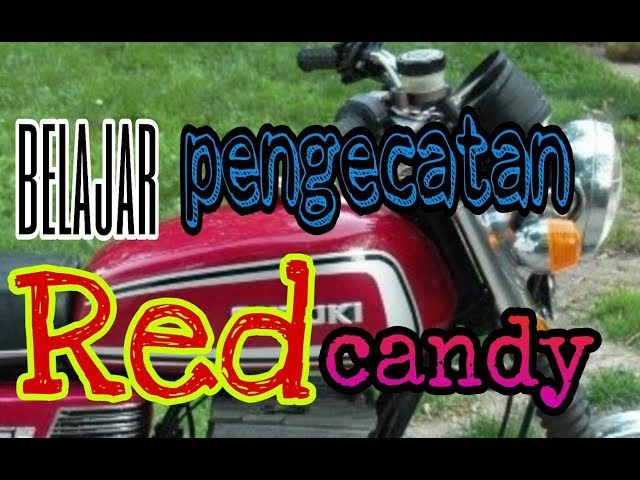 Teknik cat candy merah pada tangki suzuki gt 250