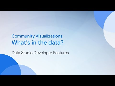 Community Visualizations: What's in the data?