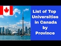 Top Universities in Canada, List of Universities in Canada by Province, Study in Canada, Top 10