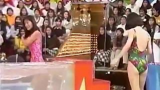 Japanese game show    熱湯コマーシャル コンドームガールズ