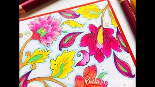 How to color with Spectrum Noir ColourBlend Pencils | Cardmaking for beginners | Ruchi's Crafeteria