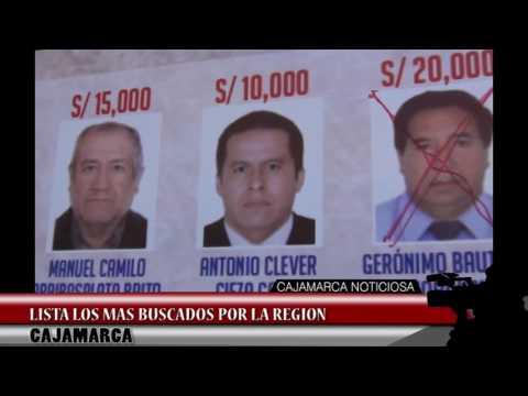 PROGRAMA DE RECOMPENSAS: LISTA LOS MAS BUSCADOS DE LA REGION CAJAMARCA