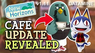 Animal Crossing New Horizons: CAFE HINTS IN DATA-MINE (1.11 Update Revealed) Rover Referenced!