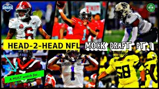 HEAD-2-HEAD NFL MOCK DRAFT! Final 2021 NFL Mock Draft Part 1 Of 2 Full Analysis With Trades