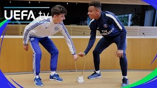 UEFA Youth League finalists skills show at UEFA HQ