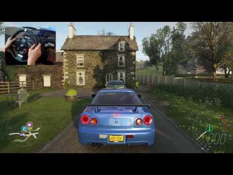 Forza Horizon 4 - Nissan Skyline GT-R R34 (Logitech Driving Force GT)