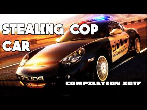 People Stealing Police Car Compilation 2017/2018