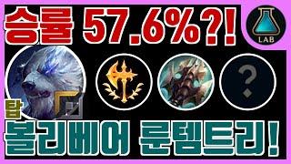 통계로 보는 탑 볼리베어 룬 템트리 -  승률 57.6…