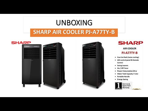 Kipas Angin Air Cooler Sharp Pj A77ty B Kipas Rasa Ac Youtube